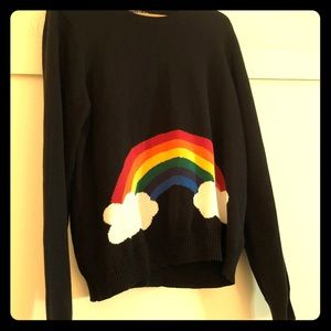 Forever 21 Black Rainbow Sweater 2X